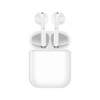 Ecouteurs binaural Bluetooth 5.0 - Blanc
