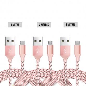 Lot de 3 cables Micro USB Premium 2A...