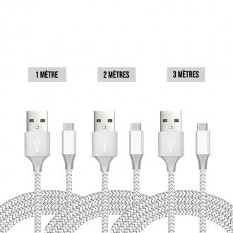 Lot de 3 cables USB-C Premium 2A :...